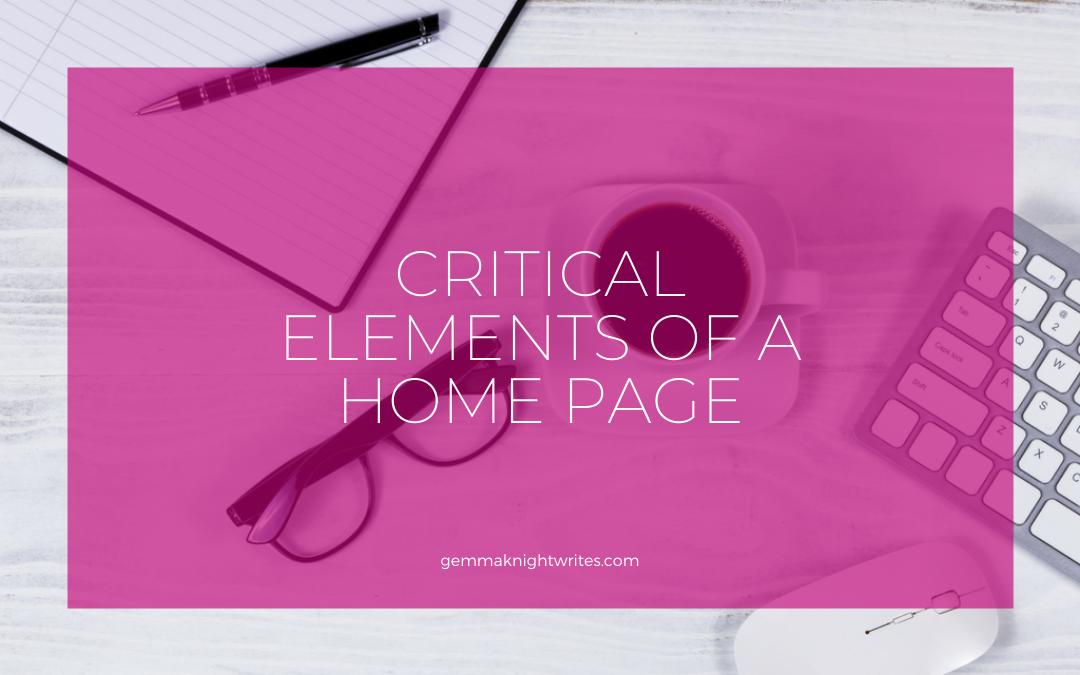 The Critical Elements Of A Homepage