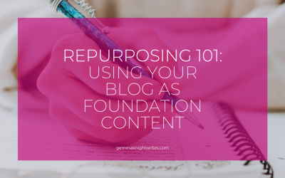 Repurposing 101: Using Your Blog As A Foundation For All Your Content