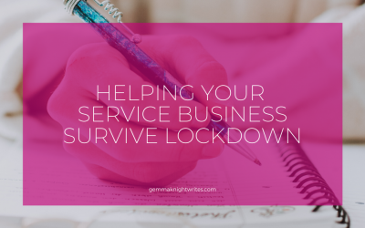 Helping Your Service Business Survive Lockdown