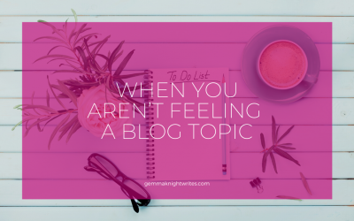 When You Aren't Feeling A Blog Topic…